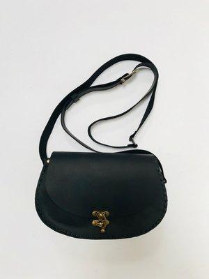 Vintage schoudertas Ovata Zwart